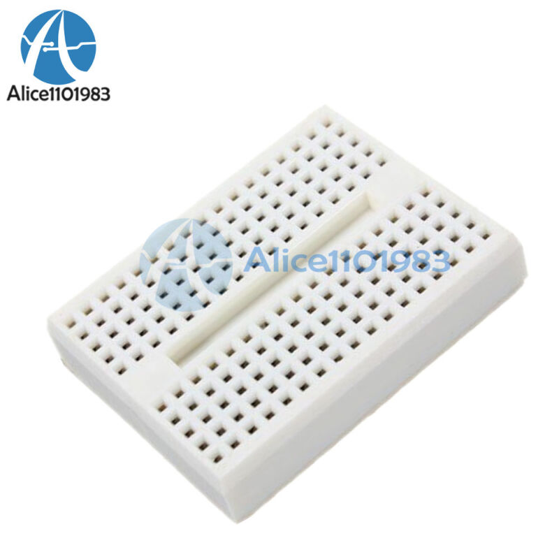 5PCS White Solderless Prototype Breadboard 170 Tie-points for Arduino Shield