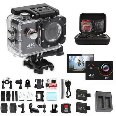 Bike 4K 16MP HD Sports Action Camera wifi Waterproof Helmet Cam for Go pro bag