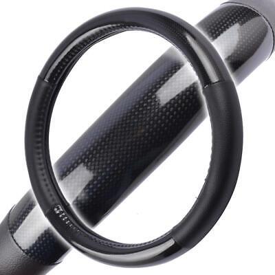 Carbon Fiber Steering Wheel Cover for Car SUV Odorless Echo Tech Black Small Carbon Fiber Steering Wheel Cover