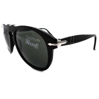 Persol Gafas de Sol 649 95/31 Negro Cristal Verde Steve Mcqueen 54mm