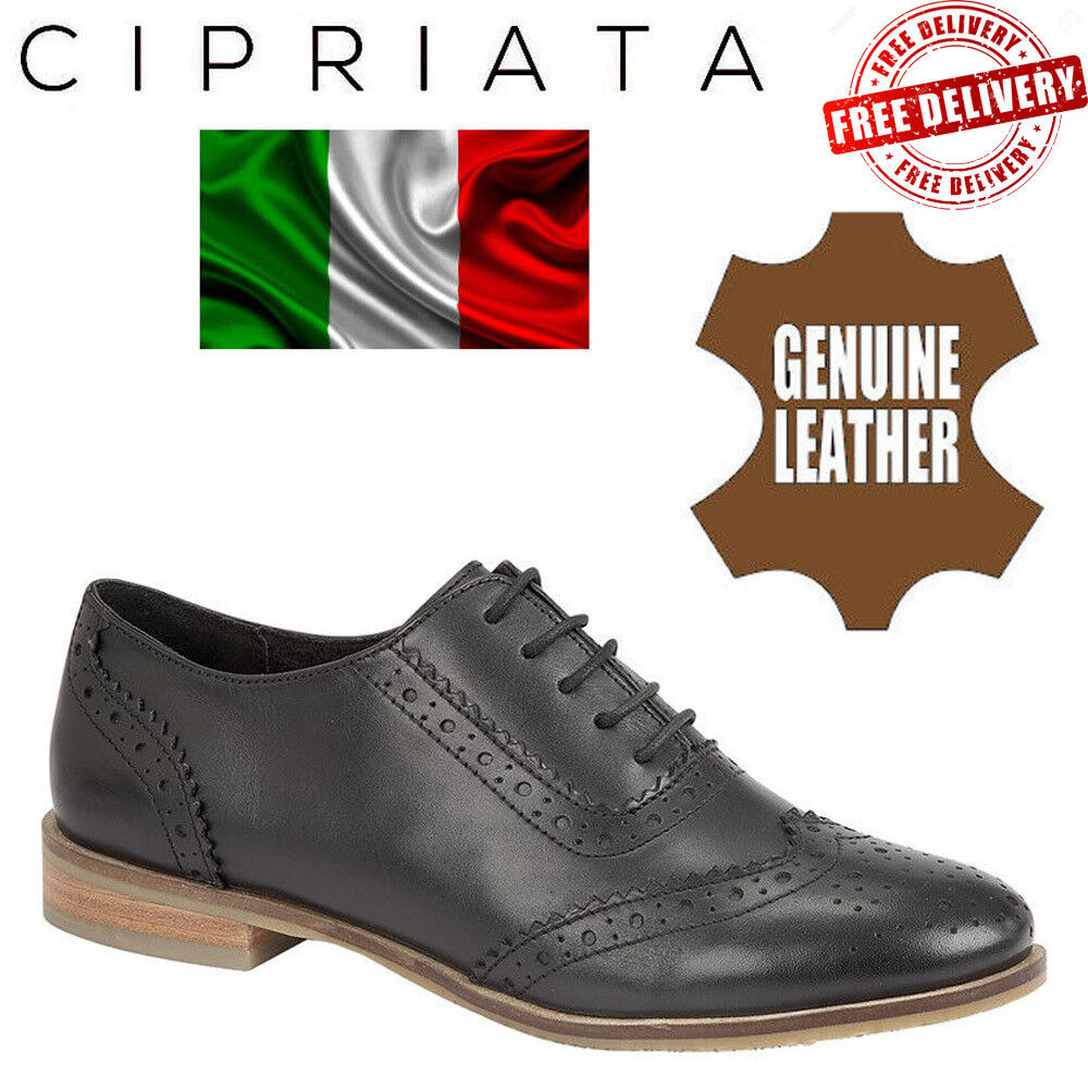 Cipriata Womens Leather Oxford Brogues