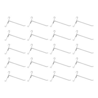 20 Pc Gloss White 6 Long Gridwall Hooks Grid Panel Display Wire Metal Hanger