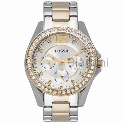 Fossil Original ES3204 Women's Riley Two-Tone Stainless Steel Watch 38mm