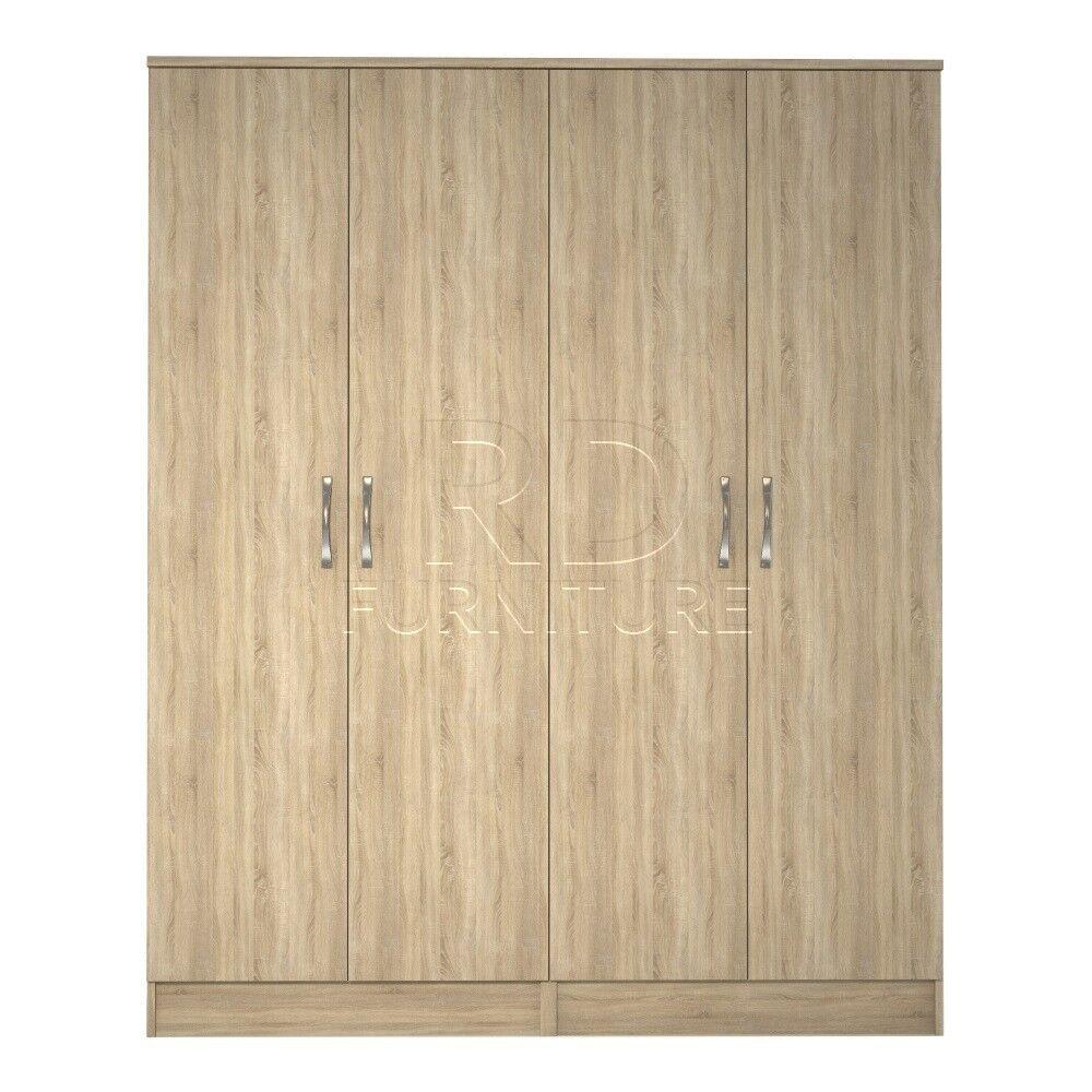 Classic 4 door wardrobe oak
