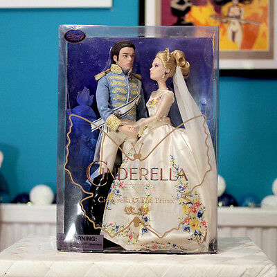 "NEW / Disney Store Cinderella Film Collection - 11"" Doll - Prince / Wedding Set"