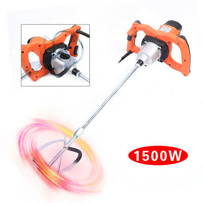 6 Speed Electric Mortar Mixer 1500w Paint Cement Grout Mortar Mixing Machine