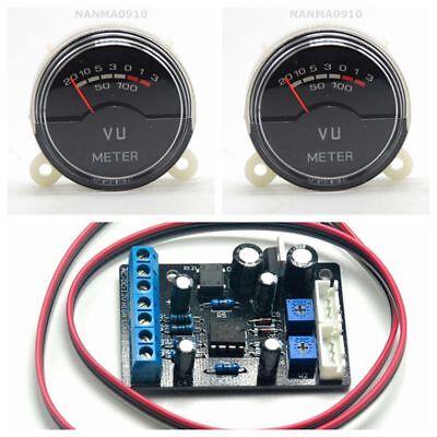 2pcs P-40sa Vu Panel Meters Detectors Audio Table W Ta7318p Driver Board Circuit