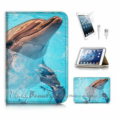 ( For iPad mini Gen 1 2 3 ) Flip Case Cover P2941 Dolphin