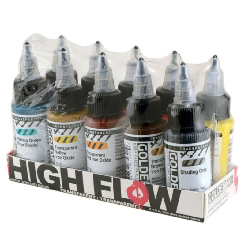 Golden High Flow Acrylics Paint 10 Count Multi-Colored (954-0)