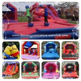 Hyperactivities bouncy castle hire Norfolk. Quality Castles. Friendly & reliable service