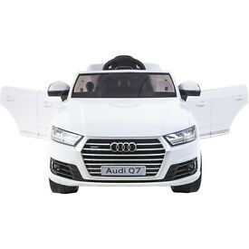 Licensed Audi Q7 TDI Quattro 12v Ride On Kids Car With Remote - White