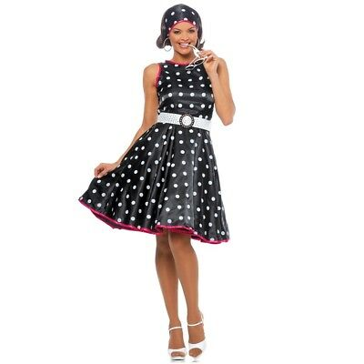 Hot 50s Polka Dot Adult Womens Costume, 482444, Goddessey](50s Womens Costumes)