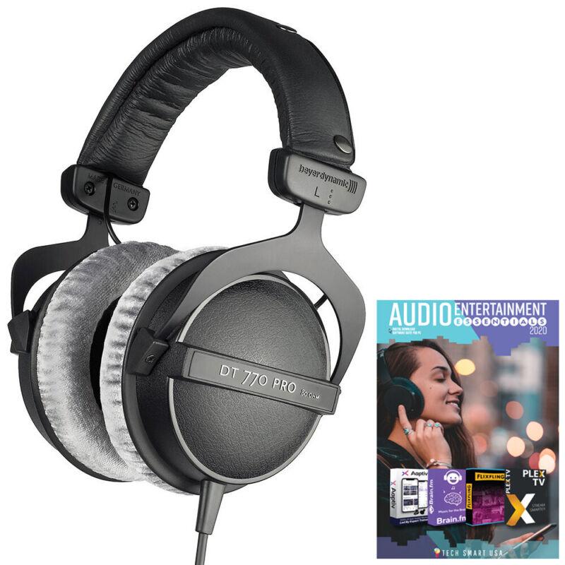 BeyerDynamic DT 770 PRO 80 Ohm Studio Headphones Closed Dynamic + Audio Bundle