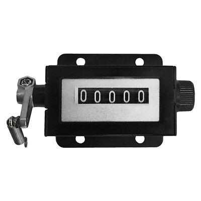 5-digit Turning Knob Reset Ratchet Counter 4 Holes Mount