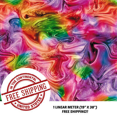 Hydrographic Water Transfer Hydro Dip Film Rainbow Oil Slick 2 1m 19 X 38