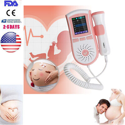 Fetal Doppler +3MHz Probe MINI LCD Prenatal Heart Rate Sound obstetrical Monitor