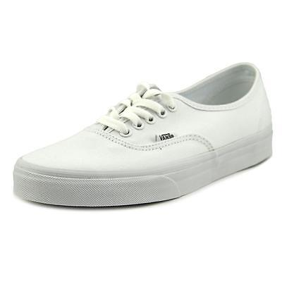 Vans-Authentic-Men-US-7-5-White-Skate-Shoe