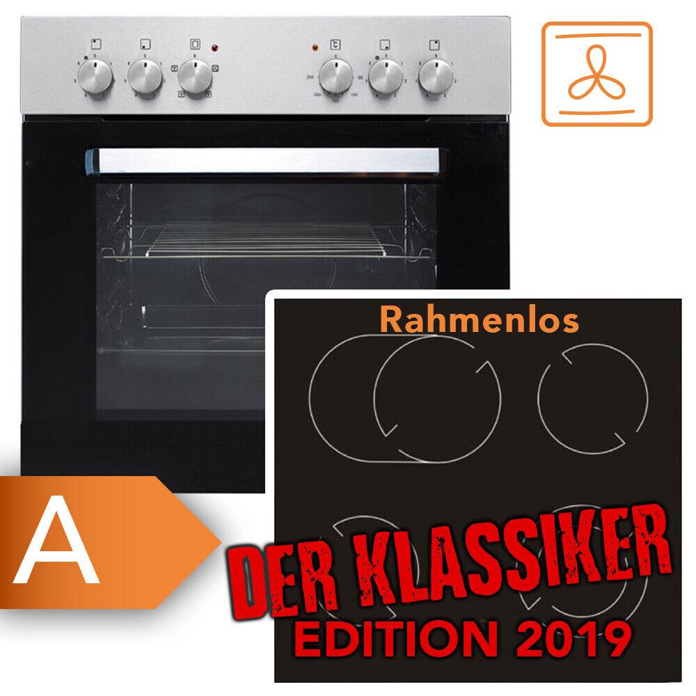Frankenberg Einbau Herd Set + Glaskeramik Kochfeld Ceran Backofen Kochplatte WOW