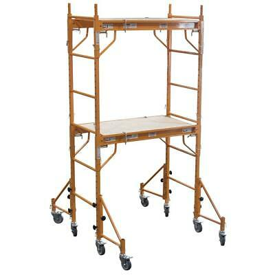 Baker Style Scaffold W Scaffolding Outriggers Pro Painting Drywall Interior New