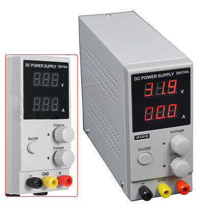Lab Dc Bench Power Supply Variable 0-30v0-10a Adjustable Switching Regulated Us