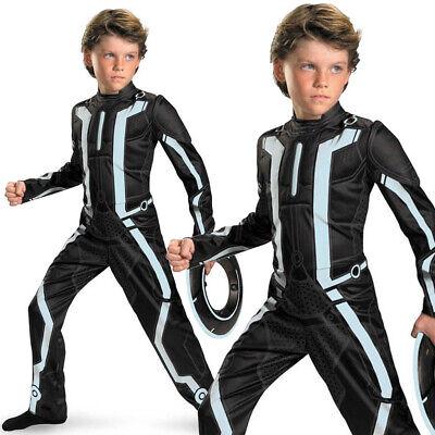 BOYS DELUXE TRON LEGACY COSTUME KIDS FANCY DRESS - Tron Outfits