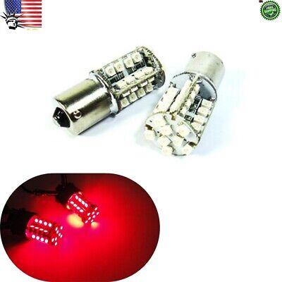 1156 4x BA15s P21W Super Red COB 12 SMD LED Bulb #Nt4 Front Sider Marker Light