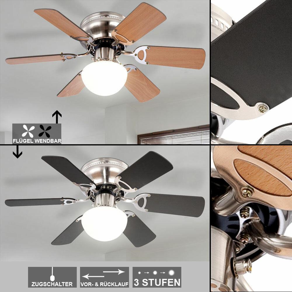 Decken Ventilator Beleuchtung Zugschalter Wohnzimmer Lampe Wärme Rückgewinnung