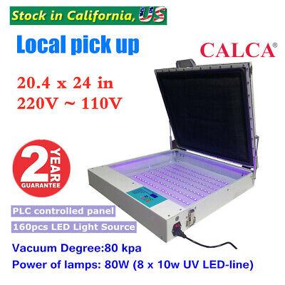 80w 20 X 24 Tabletop Precise Vacuum Led Uv Exposure Unit For Screen Printing