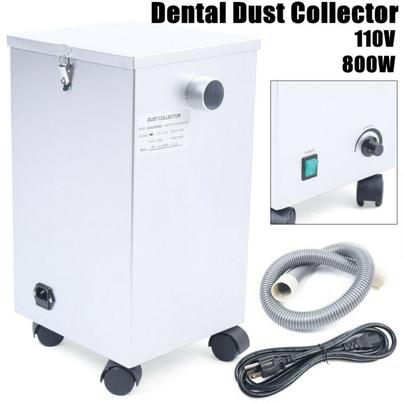 Dental Lab Dust Collector Portable Vacuum Cleaner Dust Removal Machine 110V 800W
