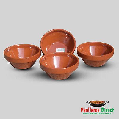 Set of 4 x 15cm Authentic Spanish Terracotta Gazpacho Bowls