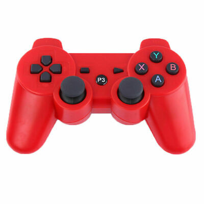 3rd Party Red Wireless Gamepad Controller for PS3 Playstation 3 Console UK POST