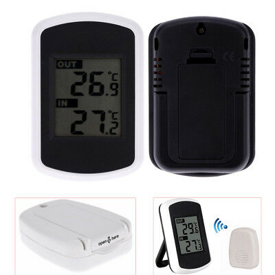 Digital LCD Indoor Outdoor Wireless Weather Station w/ Sensor Thermometers -