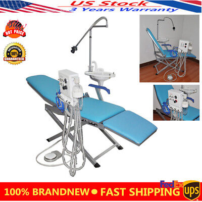 Mobile Dental Portable 4 Holes Folding Chair Led Operation Light Cuspidor Tray