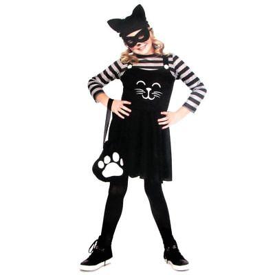 Cat Burglar Girls Halloween 5-Piece Child Robber Costume Size M(8-10) NWT