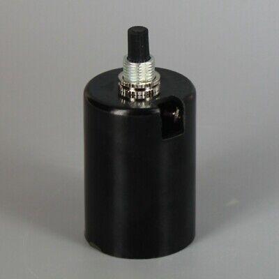 BLACK PLASTIC HUSK 2 PIECE BOTTOM TURN KNOB LAMP SOCKET MEDIUM BASE 30147J Bottom Turn Knob Socket