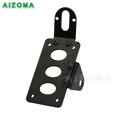 Motorcycle Vertical Side Mount License Plate Bracket For Harley Bobber Chopper