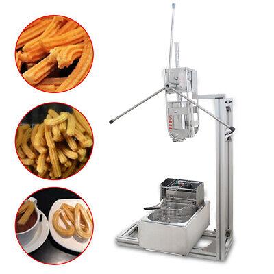 3l Manual Spanish Churro Donut Maker Machine W 6l Electric Fryer 700ml Filler