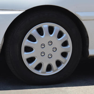 14 Inch Hubcaps for Car SUV Wheel Skin Cover 4 Pieces Durable ABS Silver