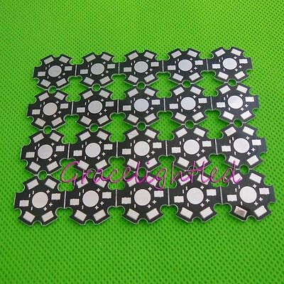 10 20 50- 500pcs 20mm Star Pcb Base For 1w 3w 5w High Power Led Bead Chip Diy