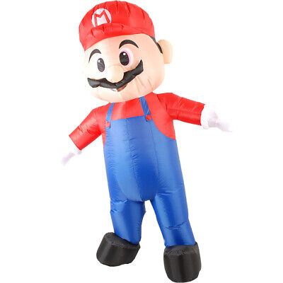 Inflatable Mario Costume Adult Super Mario Fantasy Cosplay Halloween Mascot ](Mario Cosplay Costume)