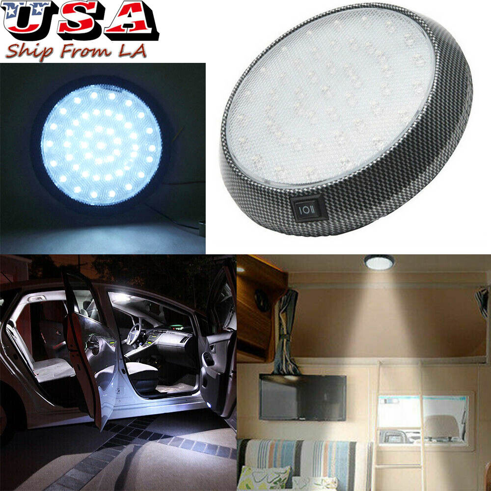 4 LED 3W Car Vehicle Interior Indoor Roof Ceiling Dome White Light Lamp Bulb