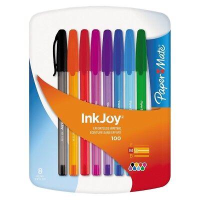 Paper-mate 1803491 Ink Joy Assorted Color Pens Medium Tip 1.0mm 8 Pens