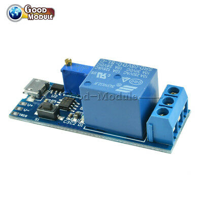 5v -30v Micro Usb Power Delay Relay Timer Control Module Trigger Delay Switch Gm
