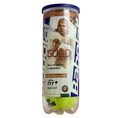 BABOLAT GOLD 3 Pelotas de tenis Roland Garros Paris Official Supplier OFERTA