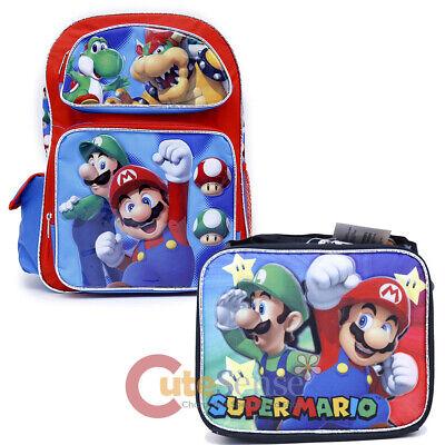 Nintendo Super Mario Escuela Grande Mochila Bolsa de Almuerzo 16