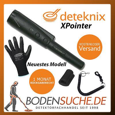 Deteknix XPointer Pinpointer Schwarz incl. Strong® Schutzhandschuhe
