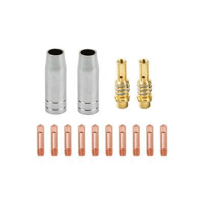 Tips Holder Diffuser Nozzle Drive Roll Liner Mig Gun Parts Fits Titanium Welder