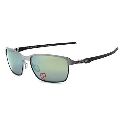 Oakley OO 6018-04 POLARIZED TINFOIL CARBON Lead Matte Black Emerald Sunglasses