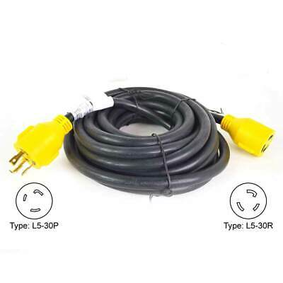 Superior Electric Rva1554 Generator Extension Cord 30 Amp 3 Pole Sjtw 10awg3