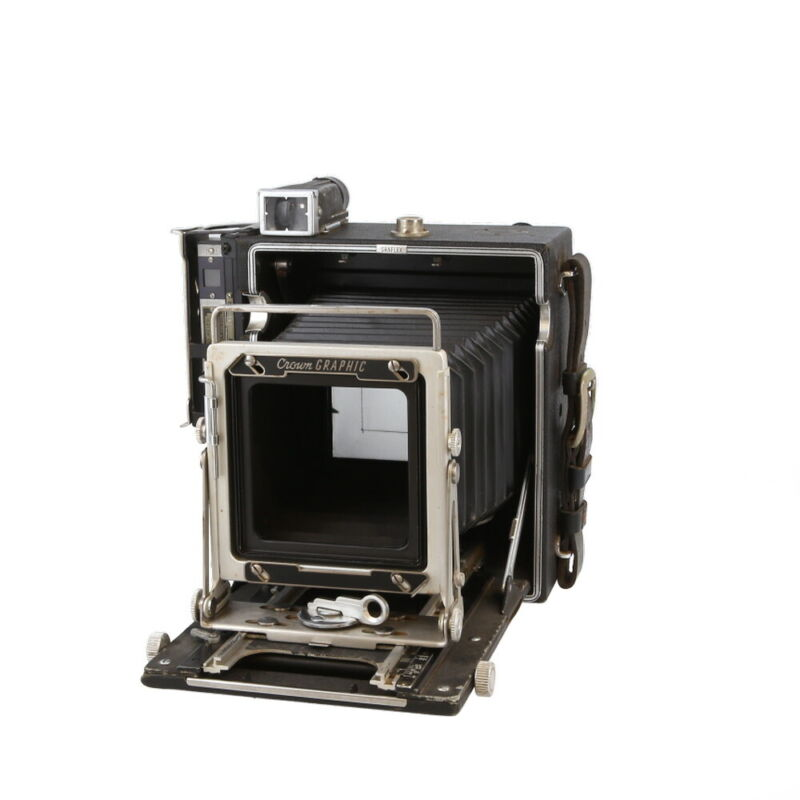 Graflex 4X5 Crown Graphic with Top Viewfinder and Graflok Side Rangefinder - UG